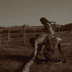 Painting the poles (Cheyenne)  (1910)