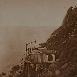 On the cliff edge, King' Island  (1928)